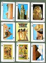 Collectible playing cards. souvenir deck scene of Egypt